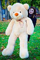 Плюшевый медведь большой 1,8 м, мягкий мишка, подарок для девушки, детям на день рождения, медовый