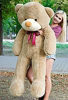 Плюшевый медведь большой 1,8 м, мягкий мишка, подарок для девушки, детям на день рождения, мокко