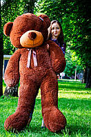 Плюшевый медведь большой 1,8 м, мягкий мишка, подарок для девушки, детям на день рождения, шоколадный