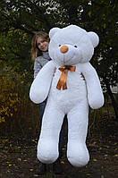 Мишка плюшевый 1,6 м, большой мягкий медведь, подарок на день рождения, белый