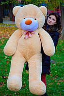 Мишка плюшевый 1,6 м, большой мягкий медведь, подарок на день рождения, медовый