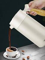 Термос-заварник для чая и кофе Pinkah PJ-3138, 960 мл, BPA Free, белый, фото 4