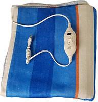 Простынь с электроподогревом Electric Blanket 5714 150х160 см, синяя в полоску, фото 3