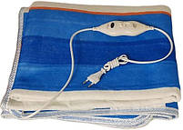 Простынь с электроподогревом Electric Blanket 5714 150х160 см, синяя в полоску, фото 4