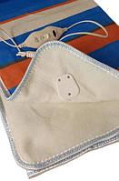 Простынь с электроподогревом Electric Blanket 5714 150х160 см, синяя в полоску, фото 5