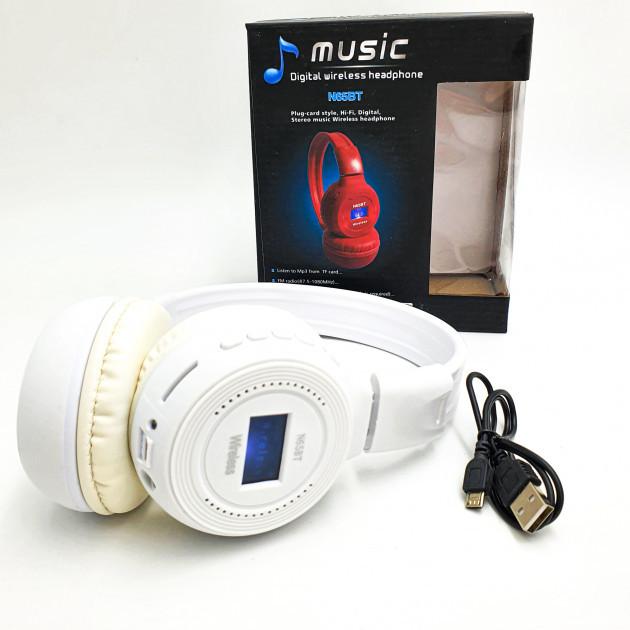 Беспроводные наушники с микрофоном MDR Bluetooth N65BT, белые