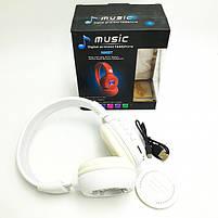 Беспроводные наушники с микрофоном MDR Bluetooth N65BT, белые, фото 4