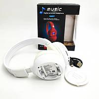 Беспроводные наушники с микрофоном MDR Bluetooth N65BT, белые, фото 6