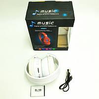 Беспроводные наушники с микрофоном MDR Bluetooth N65BT, белые, фото 7