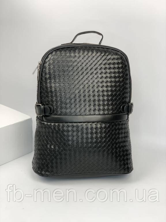 Кожаный рюкзак Боттега Венета черного цвета | Кожаный рюкзак портфель Боттега Венета мужской женский