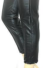 Жіночі шкіряні штани на резинці, фото 3