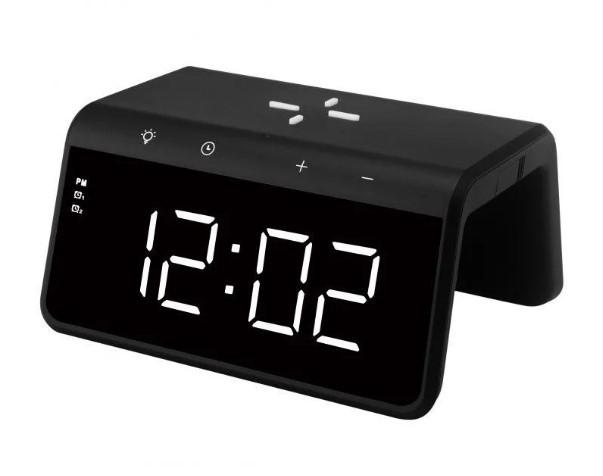 Умные часы с беспроводной зарядкой и LED-подсветкой MHZ SY-W0258, черные