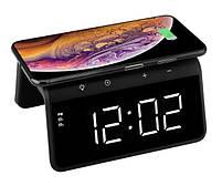 Умные часы с беспроводной зарядкой и LED-подсветкой MHZ SY-W0258, черные, фото 2