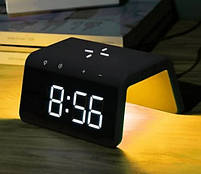 Умные часы с беспроводной зарядкой и LED-подсветкой MHZ SY-W0258, черные, фото 3