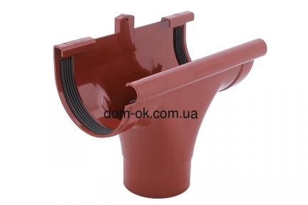 Profil Ливнеприемник проходной,  система 130/100 RAL 3005 вишневый