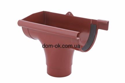 Profil Ливнеприемник левый, система 90/75 RAL 3005 вишневый