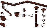 Profil Ливнеприемник левый, система 90/75 RAL 3005 вишневый, фото 9