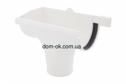 Profil Ливнеприемник левый, система 130/100 RAL 9016  белый
