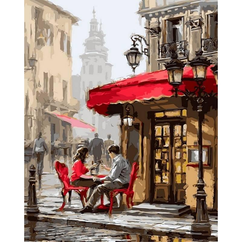 Картина рисование по номерам Babylon Лондонское кафе. Худ. Ричард Макнейл 40х50см VP442 набор для росписи,