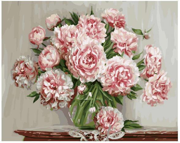 Картина за номерами Садовые пионы  GX5581 Цветы и натюрморты