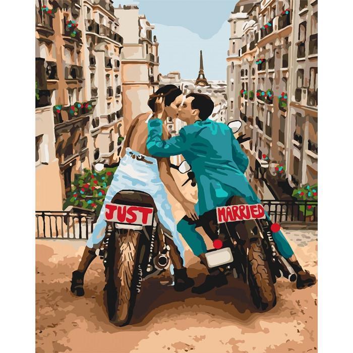 Картина рисование по номерам Идейка Любовь в большом городе 40х50см КНО4656 набор для росписи, краски, кисти,