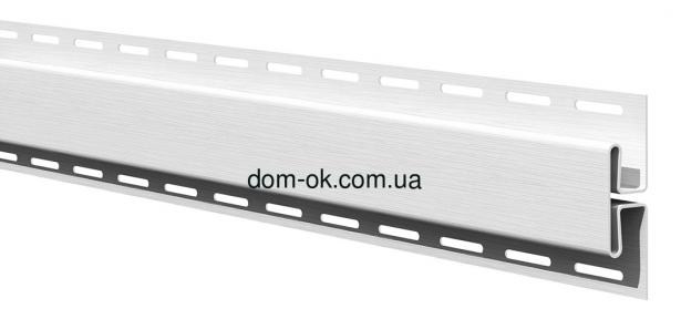 Планка соединительная для софита АйДахо  в цвет, длина 3,05м белый