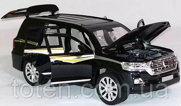 Джип металл EL 6491 Тoyota Land Cruiser ТК Group, свет, звук, открываются двери. Черный Т