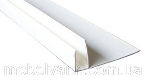 Профиль-F белый 6м для пластиковых панелей