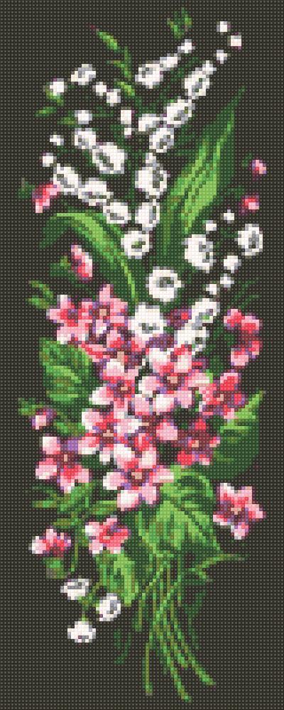 Алмазная мозаика Лесные цветы DM-324 20х50см Полная зашивка. Набор алмазной вышивки цветы