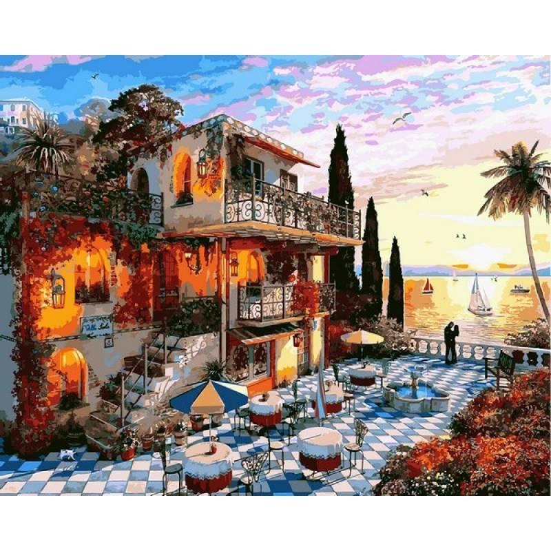 Картина рисование по номерам Babylon Средиземноморский роман 40х50см VP1150 набор для росписи, краски, кисти,
