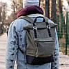 Роллтоп рюкзак мужской FOREST из брезента canvas