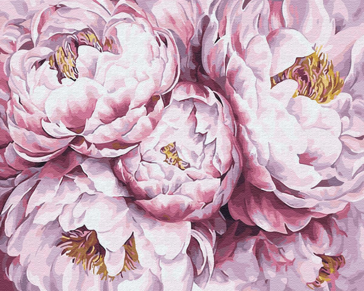 Картина за номерами Пионы GX29483 40х50см брашми Цветы и натюрморты