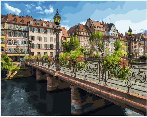 Картина за номерами Страсбург  GX25579 Городские пейзажи и сооружения