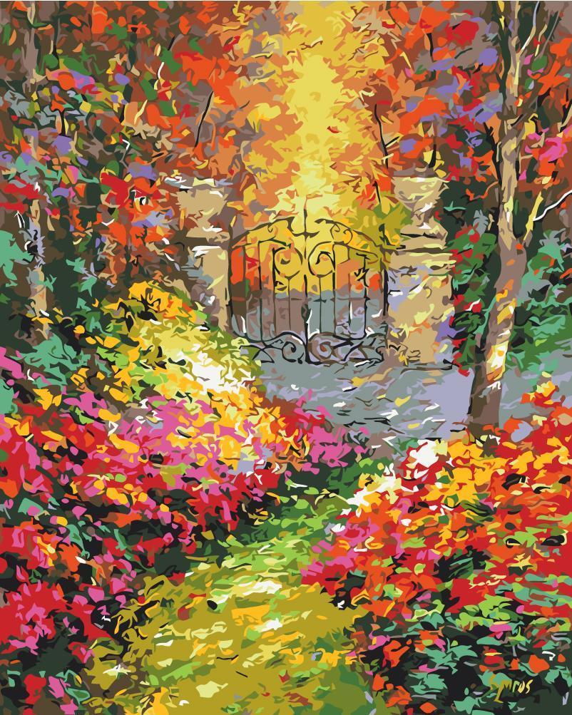 Картина рисование по номерам Осенний сад BK-GX9972 набор для росписи, краски, кисти, холст