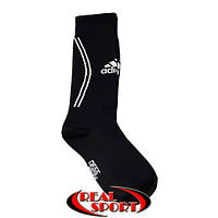 Гетры для футбола Adidas черные. Размеры S (18-23 см), L (25-28 см)