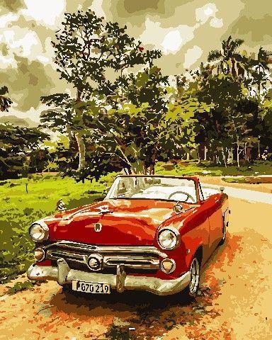 Картина рисование по номерам ArtStory Стильне авто 40х50см AS0688 набор для росписи, краски, кисти, холст