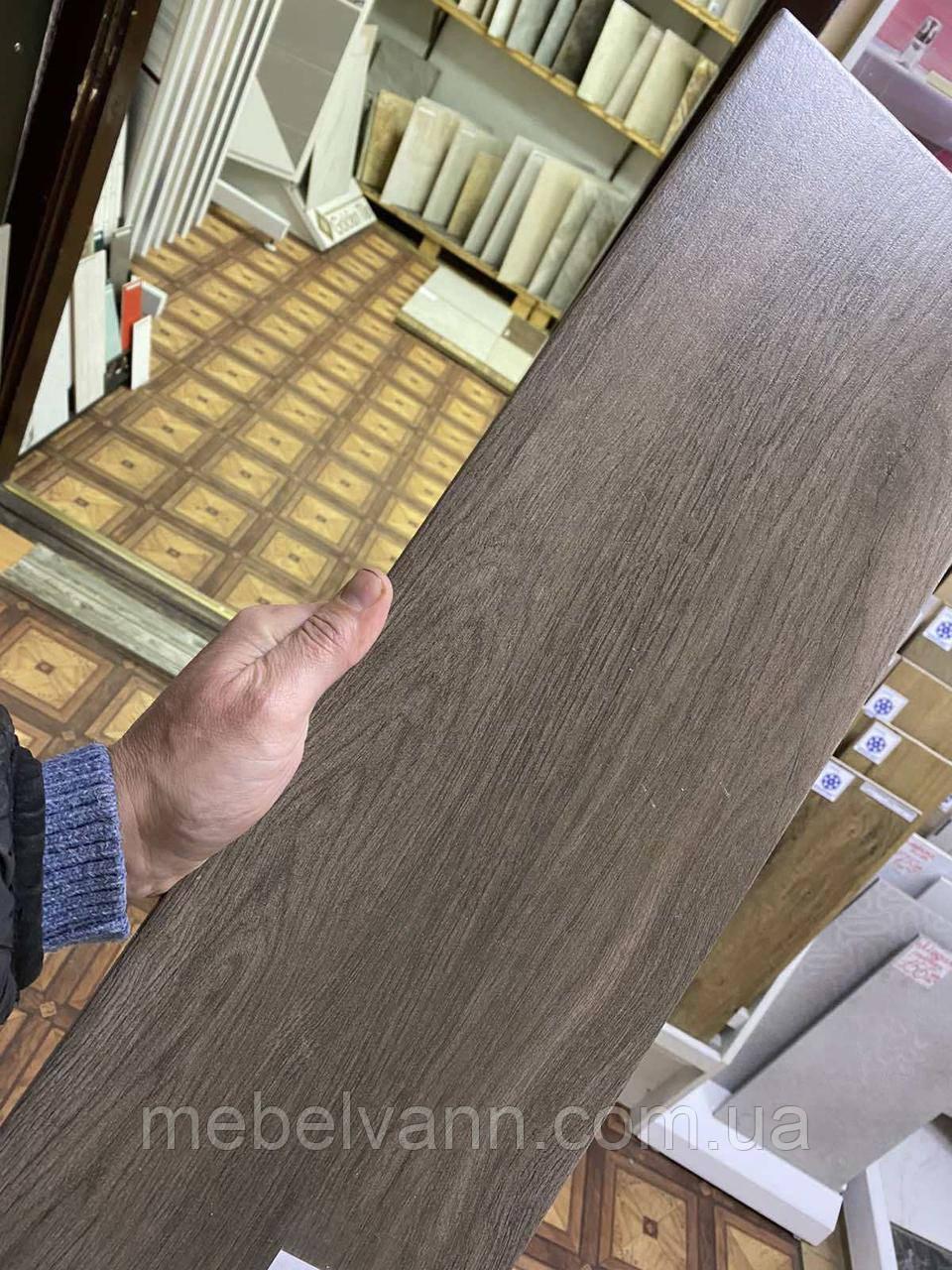 Керамогранит для пола Sherwood коричневый 20*60 Шервуд коричневый