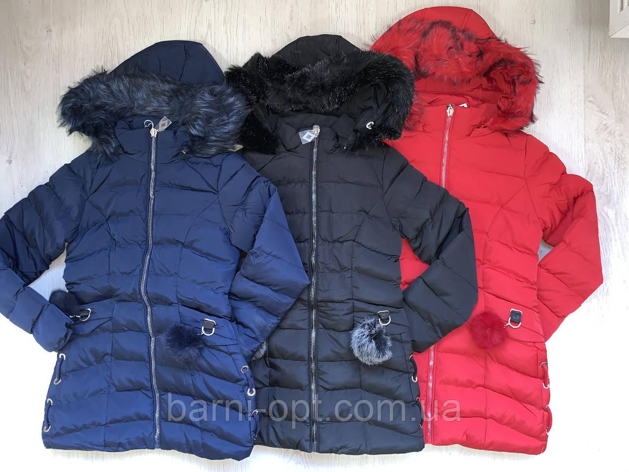 Куртки зимові на дівчаток оптом, Nature, 10-16 рр