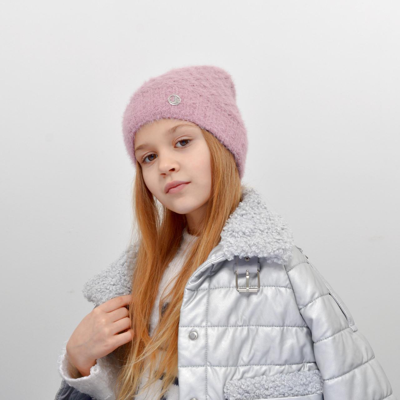 Детская шапка NordNeo 5549 пудра