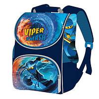 """Рюкзак школьный """"SMILE"""" """"Ниндзя Viper Smash"""", ортопедический, для младших классов, коробка 33х26х16см."""