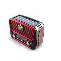 Портативная колонка MP3 USB Golon RX-455S Solar с солнечное панелью Wooden-Red (par_RX 455 SOLAR)