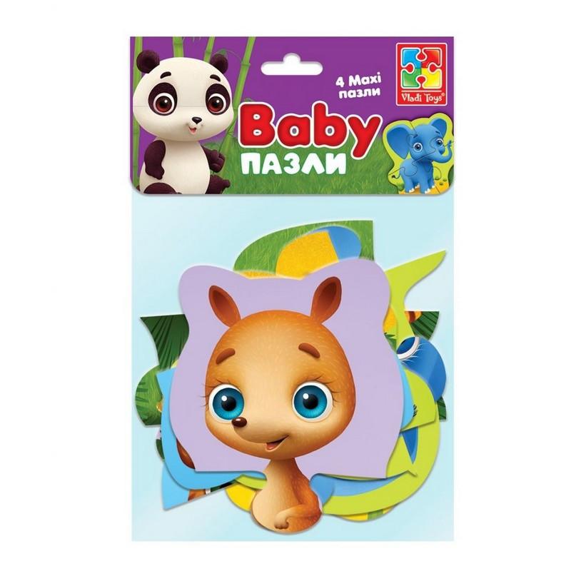Пазли картонні Бебі MAXI Зоопарк Vlady Toys