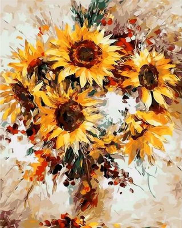 Картина рисование по номерам Mariposa Солнечные цветы. Худ. Леонид Афремов 40х50см Q1121 набор для росписи,