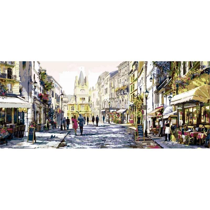 Картина рисование по номерам Babylon Солнечная улица Триптих 50х150см VPT026 набор для росписи, краски, кисти,