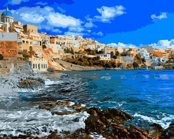 Картина рисование по номерам Babylon Греция 40х50см VP1248 набор для росписи, краски, кисти, холст