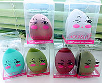 Спонж для макияжа яйцо срезаное смайлик