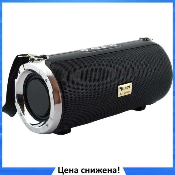 Портативна колонка Atlanfa XTREME RW-1888BT 30W - стерео колонка з Bluetooth, ремінцем, сабвуфером і радіо