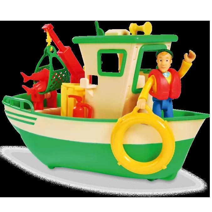 Детская игрушечная Лодка рыбацкая Чарли из серии Пожарный Сэм Simba игровой набор для детей