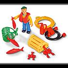 Детская игрушечная Лодка рыбацкая Чарли из серии Пожарный Сэм Simba игровой набор для детей, фото 5