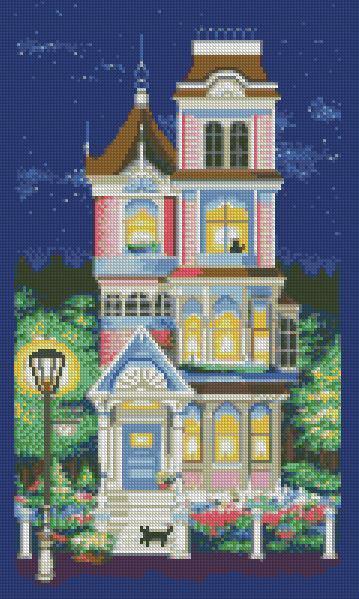 Алмазная мозаика Милый дом DM-349 30х50см Полная зашивка. Набор алмазной вышивки строения, дома